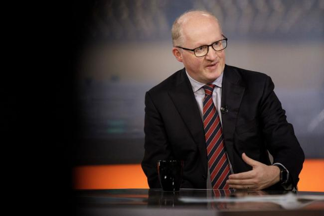 © Bloomberg. Philip Lane, governor at the Central Bank of Ireland, gestures as he speaks during a Bloomberg Television interview in London, U.K., on Friday, Sept. 28, 2018. Irelands central bank head welcomed