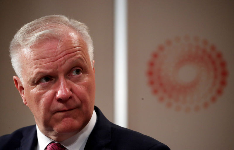 © Reuters. FILE PHOTO: Governor of the Bank of Finland, Olli Rehn attends a Reuters Newsmaker event in London