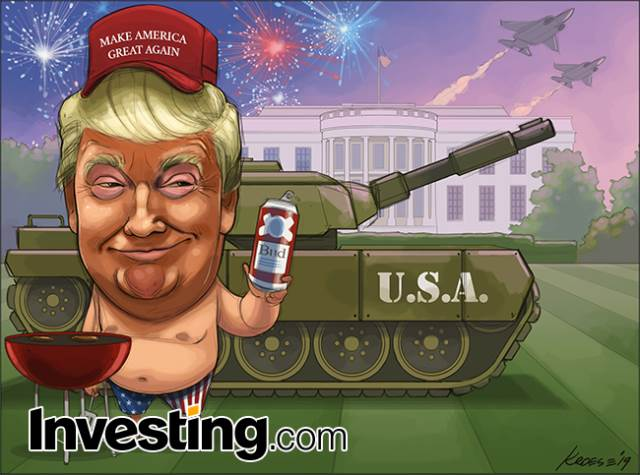 Happy Independence Day! The U.S. Celebrates 4th of July Donald Trump-Style By Investing.com