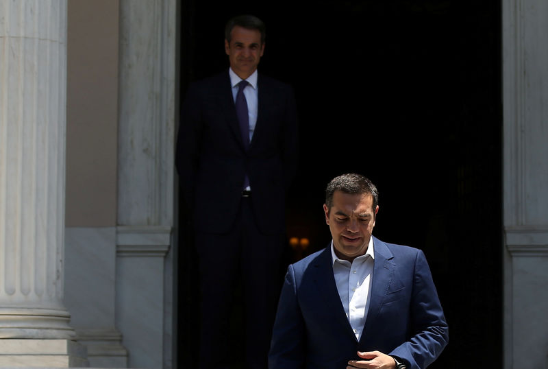 New Greek Prime Minister Mitsotakis takes over, Tsipras bows out By Reuters