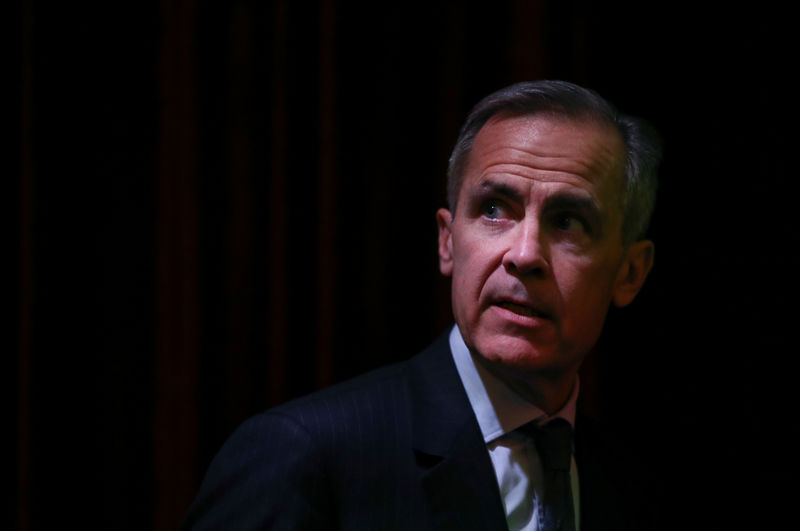 Trade war, no-deal Brexit are risks, not certainties: BoE's Carney By Reuters