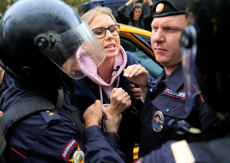 Russian police detain prominent opposition activist before protest By Reuters