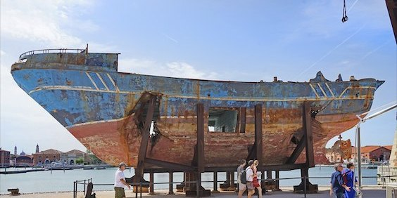 Wrecked Migrant Ship Displayed by Christoph Büchel Returns to Sicily as Memorial